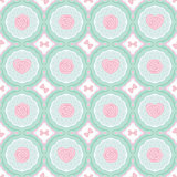 Vector vintage flat seamless pattern with rose