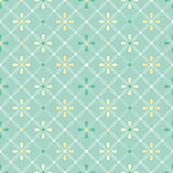 Vector vintage flat seamless pattern with flowers