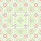 Vector vintage flat seamless pattern with heart