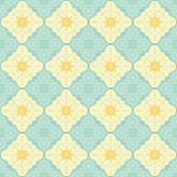 Vector vintage flat seamless pattern with dots