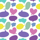 Seamless pattern with speech bubbles