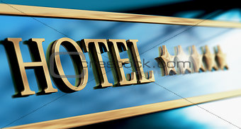 Five Stars Luxury Hotel Sign or Header