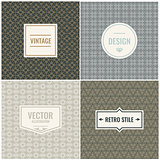 Set of Vintage vector backgrounds