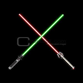 Crossed Light Future Swords
