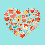 Decorative background with heart