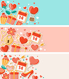 Valentine decorative banners