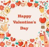 Decorative background for Valentine's day