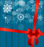 Abstract Beauty Christmas and New Year Background with Snow