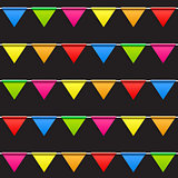 Party Background with Flags Seamless Pattern Vector Illustration