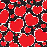 Heart Seamless Pattern Vector Illustration