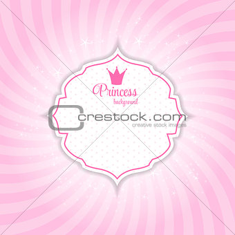 Abstract Princess Shiny Star Background Vector Illustration