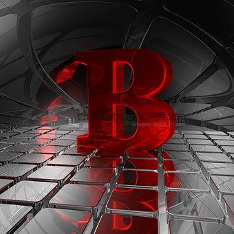 b in futuristic space