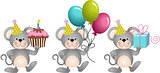 Birthday cute mouses