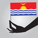 Hand with flag Kiribati