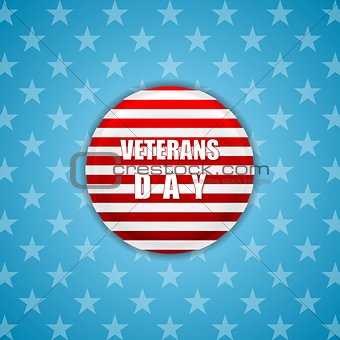 Abstract bright Veterans Day background