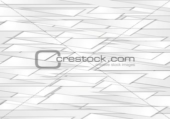 Abstract grey shapes vector background