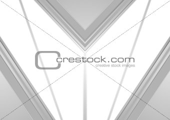 Grey and white tech geometric corporate background