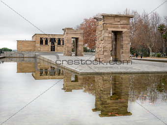 Clear Temple of Debod, Madrid.