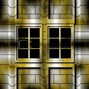 Abstract decorative window