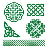 Celtic green knots, braids and patterns - St Patrick's Day in Ireland