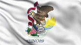 US state flag of Illinois