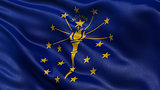 US state flag of Indiana