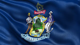 US state flag of Maine