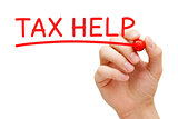Tax Help Red Marker