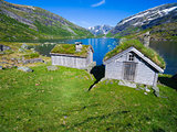 Old norwegian huts