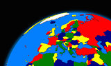 Europe on planet Earth political map