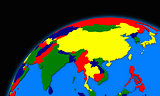 southeast Asia on planet Earth political map