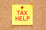 Tax Help Sticky Note