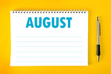 August Calendar Blank Page