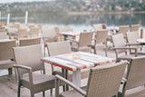 Empty cafe terrace