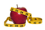 Red Delicious Apple With Tape Measure