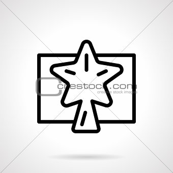Black simple line Xmas star vector icon