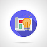 Round color vector icon for idea creating