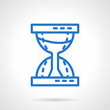 Time concept. Sandglass blue line vector icon