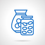 Saving money abstract blue line vector icon
