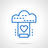 Cloud service vector icon simple line style