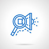 Search ads vector icon blue line style