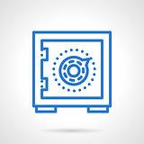 Money saving blue simple line vector icon