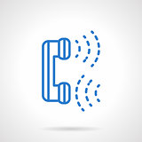 Phone communications blue line vector icon