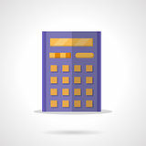 Purple calculator flat color vector icon