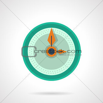 Flat color clock dial vector icon