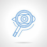 Search blue flat line vector icon