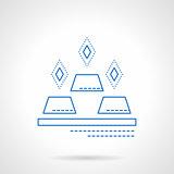 Bank deposit blue flat line vector icon