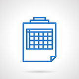 Blank spreadsheet vector icon simple line style