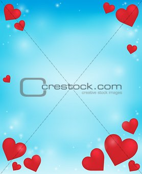 Abstract background with heart theme 4
