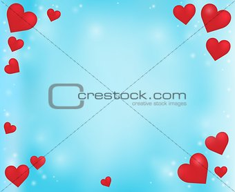 Abstract background with heart theme 5